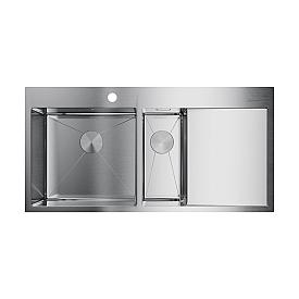 Кухонная мойка Omoikiri Akisame 100-2-IN-L 4973544 нержавеющая сталь