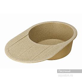 Мойка для кухни Амира круглая с крылом песочная Aquaton 1A712932AI220