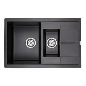 Мойка для кухни кварцевая Paulmark Feste PM237850-BL