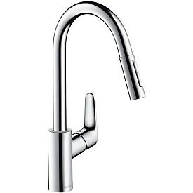 Смеситель с выдвижным изливом для кухни Hansgrohe Focus 31815000