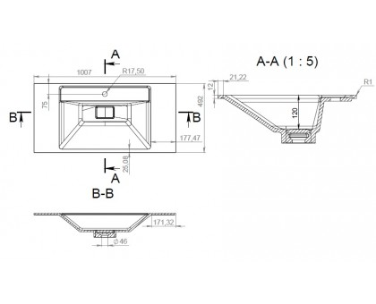 M50AWPC1001WG INSPIRE V2.0 раковина мебельная  искусственный мрамор 100 см