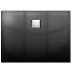Акриловый душевой поддон Riho 412 90x90 черный глянец, накладка хром DC221600000000S