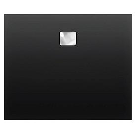 Акриловый душевой поддон Riho 418 140x90 черный глянец, накладка хром DC281600000000S