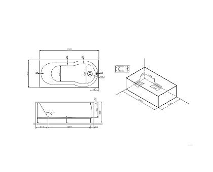 Ванна акртиловая AM.PM X-Joy W88A-150-070W-A 1500 мм