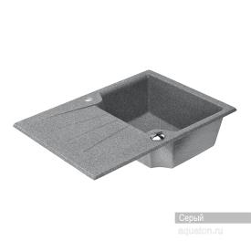Мойка для кухни Монца прямоугольная с крылом серая Aquaton 1A716032MC230