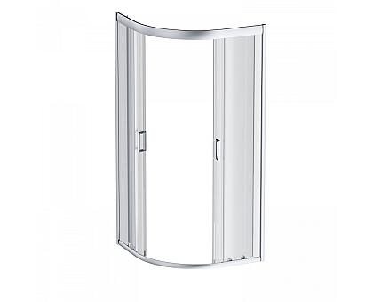 W90G-401-080WT Gem душевое ограждение 80х80 стекло прозрачное профиль матовое серебро без поддона