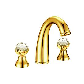 Смеситель для раковины на 3 отверстия Boheme Imperiale Presente 337 золото