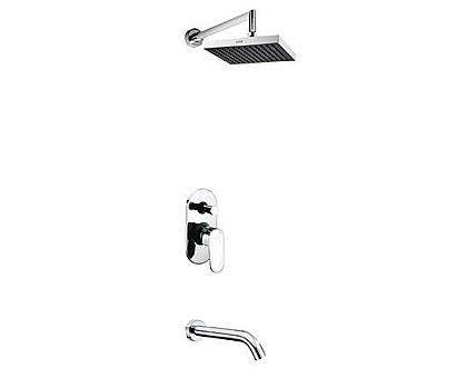А13028 Встраиваемый комплект для ванны с изливом и верхней душевой насадкой WasserKRAFT