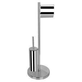 Стойка с туалетным ершиком и бумагадержателем AltroBagno Beni aggiuntivi FS 083302 Cr