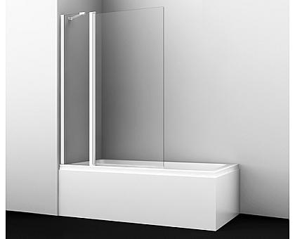 48P02-110WHITE Fixed Стеклянная шторка на ванну WasserKRAFT