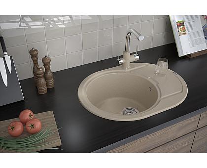 Мойка для кухни кварцевая Paulmark Oval PM316502-DG
