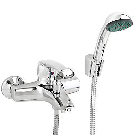 ENLAR Смеситель д/ванны монокомандный, с ручным душем, хром