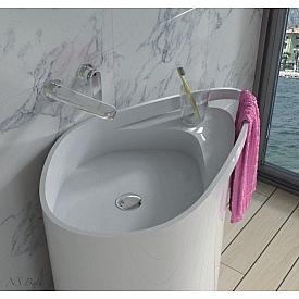 Раковина врезанная в столешницу в ванной NSBath  NSF-8572M