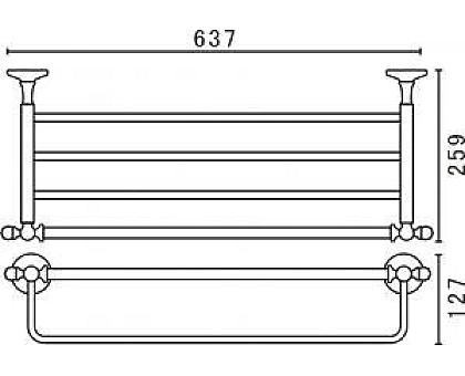 Полка для полотенец подвесная ART&MAX AM-2622Q