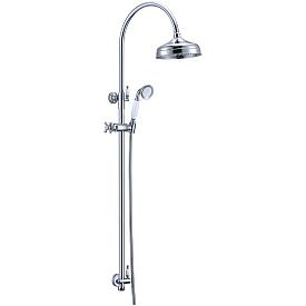 Стойка с верхним душем(20 см) Boheme BRILLANTE 403 хром